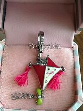 RARE! BRAND NEW! JUICY COUTURE PINK KITE BRACELET CHARM IN TAGGED BOX