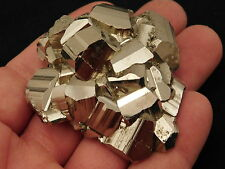 A Super Nice! AAA Rhombic PYRITE Crystal CLUSTER from Peru 140.1gr