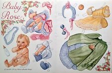 Baby Rose by Brenda Sneathen Mattox, 1994 Mag. Paper Doll