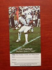 CFB 1979 TEXAS CHRISTIAN TCU HORNED FROGS Football Schedule College WITH COUPON