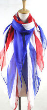 Union Jack UK Souvenir Flag  Gift ladies/Girls Print Fashion Maxi Scarf Sarong