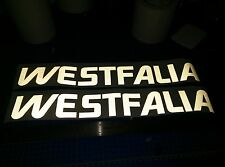 "Volkswagen WESTFALIA Reflective BUS VAN stickers Decals 18"" 2 PACK for Vanagon"