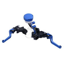 "7/8"" Brake Clutch Master  Reservoir Lever For Kawasaki ZX7R ZX600 ZZR600 Blue"