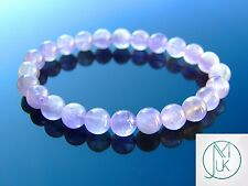 Light Amethyst Natural Gemstone Bracelet 7-8'' Elasticated Healing Stone Chakra
