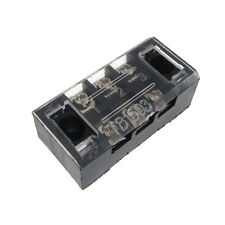 3 Position Screw Barrier Strip Terminal Block with Cover 15A - QTY(2)