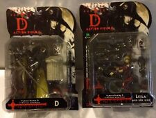 Epoch Vampire Hunter D and Leila with bike Action Figures Set 1/10th Scale