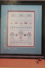 Earth Threads STRAWBERRY SAMPLER Cross Stitch Chart Hearts Flowers Fruit NEW