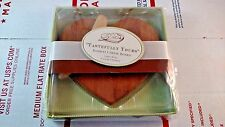 """Kate Aspen Bamboo Cheese Board """"Tastefully Yours"""" Heart Shaped NEW Cutting Tray"""
