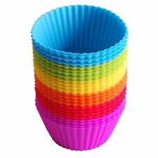 24Pack Reusable Silicone Baking Cups Cupcake Liners Muffin Cups Cake Molds