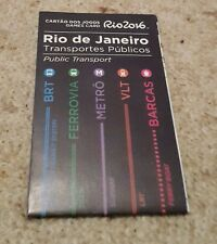 Official Transportation Map Olympic Games Rio de Janeiro 2016 Olympische Spiele
