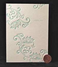 Thank You  Floral Design Teal Blue Nice -- SMALL Blank Note Greeting Card -- NEW
