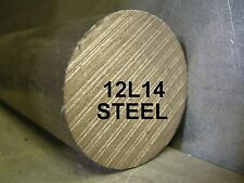 "12L14 STEEL 1-1/2""x12"" ROUND BAR STOCK FOR SOUTH BEND LATHE CNC MACHINE SHOP"