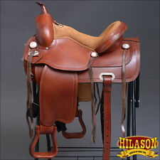 TO110-F HILASON TREELESS WESTERN TRAIL BARREL RACING HORSE RIDING SADDLE 18""