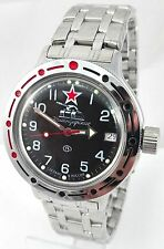 RUSSIAN VOSTOK DIVER AMFIBIAN Men's Automatic WATCH #420306 Soviet Tank NEW