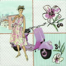 "4x Single Table Paper Napkins for Party, Decoupage, Craft ""Italian Flair"