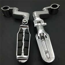 """1.5"""" Highway Radical Tombstone offset Mount Clamp Foot peg for Honda GoldWing"""