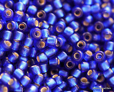 8/0 Silver-Lined Frosted Dark Sapphire Round Toho Seed Beads 15 grams #28F