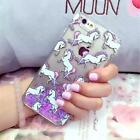 Luxury Unicorn Bling Liquid Glitter Case Cover For Apple iPhone SE 5 5S 5C 6 6S