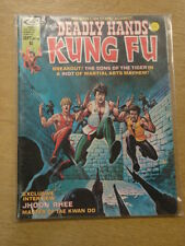 DEADLY HANDS OF KUNG FU #16 1975 SEPT FN CURTIS US MAGAZINE JHOON RHEE