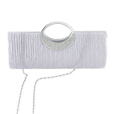 Pleated Clutch Bag Women Chain Handbag Lady Evening Dinner Party Shoulder Purse
