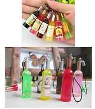New Cute Little Wine Bottle Key Chain Mobile Phone Pendant Random Color