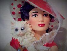 """Cameo Girl Head Vase  Emma 1944 """"Cat's Meow""""   new"""
