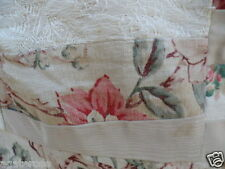 Antique vintage patchwork bed quilt cover pink cream and shabby floral