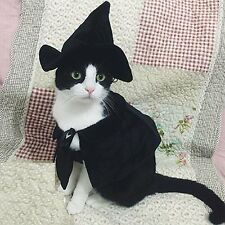 Cute Hooded Cloak Witch / Wizard Costume for Small Dogs & Cat Kitten, Cat