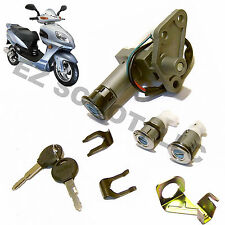 IGNITION KEY LOCK SET GY6 4STROKE 125/150cc CHINESE SCOOTER ROKETA TAOTAO SUNL