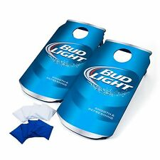2 Bud Light Cornhole Boards Bean Bag Toss Hole Set Outdoor Tailgate Party Games
