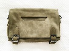 NEW $695 THEYSKENS' THEORY LANG WANG MEDIUM SUEDE MESSENGER CLUTCH BAG