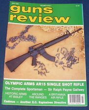 GUNS REVIEW MAGAZINE JULY 1993 - THE OLYMPIC ARMS AR15 SINGLE SHOT RIFLE