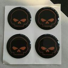 Night Rod, V Rod Muscle  Cam Cover, Ventildeckel Aufkleber,Skull2 schwarz orange
