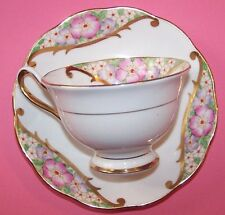 ROYAL ALBERT CROWN CHINA CUP & SAUCER - Vintage and simply beautiful