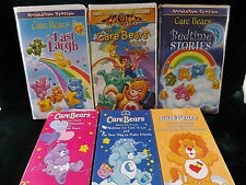 Care Bears VHS Lot of 6 Videos Tested Free Priority Shipping