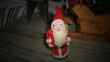 Vintage Santa Claus Cotton Batting Composition Face Rope+ Sack Belsnickle Santa