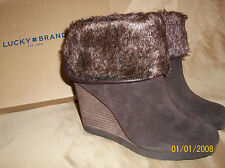 NEW!  Womens size 7  LUCKY BRAND  Torynn  Java Brown   Heel Slip-On Ankle Boots