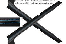 BLUE STITCH 2X DOOR SILL SKIN COVERS FITS FORD ESCORT MK3 MK4 XR3I RS TURBO