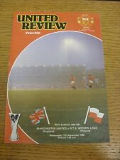 17/09/1980 Manchester United v Widzew Lodz [UEFA Cup] (token removed, folded, te