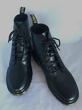 Dr Martens AirWair Women's LUANA Sz 11 Black Leather Boots Docs W/ Bouncing Sole