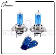 2x Replacement XENON Upgrade 12v H4 60/55w Bulbs & 2x Blue 501 Side Lights