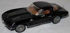 1/24 Danbury Mint 1963 Chevy Corvette Sting-Ray Coupe BLACK Precision Model 25