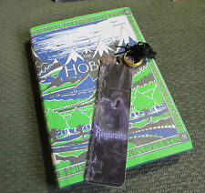 The Hobbit HB HC DJ illustrated by J.R.R. Tolkien w/art by author bookmark+ring