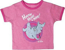 Dr. Seuss Horton Raspberry  Heather Vintage Short Sleeve Ringer Tee 24 months