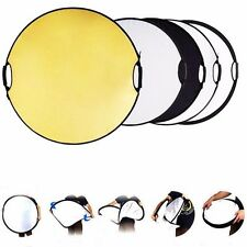 "43"" 110 5-in-1 Photo Studio Multi Disc Photo Collapsible Light Reflector Handle"