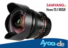 Samyang Objektiv Lens 14mm T3.1 ED AS IF UMC Mk II VDSL mit Canon EF Mount