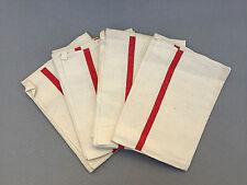 Lot 4 anciens torchons épais monogramme haute qualité french antique towels