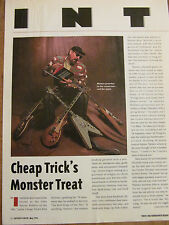 Cheap Trick, Rick Nielsen, Full Page Vintage Clipping
