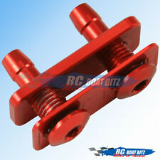 RC Boat Dual water outlet for large hose red