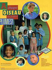 PUBLICITE ADVERTISING 074  1992  OILILY  vetements pret à porter enfants